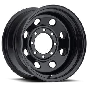14X5.5 (5X4.25/5X4.5)マットの黒い鋼鉄冬の車輪