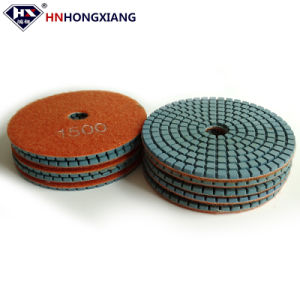 Tamponi a cuscinetti per lucidare bagnati flessibili del diamante di vendita diretta 4  100mm della fabbrica