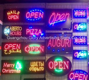 Animación LED de señal abierta/LED Publicidad signo abierto