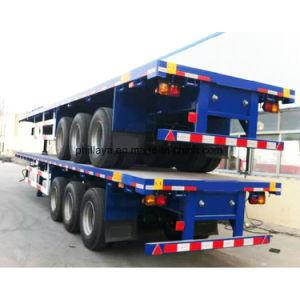 Behälter Tri-Welle Flachbett-Schlussteil des Transport-40FT