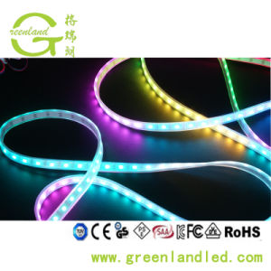 Marcação ce 30 RoHS medidor LED/WS2811 IC 5050 SMD tira RGB LED endereçável 12V