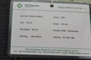 Anti-UV relva sintética de relva artificial 38mm Pilha (SUNQ-AL00102)
