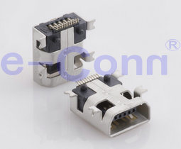 Mini USB B женского типа SMT Recceptacle разъем