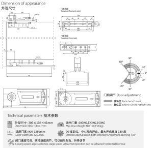 De Economische Deur van uitstekende kwaliteit van de Lente van de Scharnier van de Vloer - dichter fh-8000 glashardware