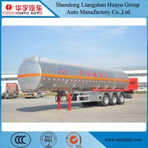 40cbm 40000L 3 Wellen-Aluminiumlegierung-Brennstoff/Öl/Dieseltransport-Tanker-halb Schlussteil