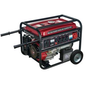 5KW de puissance Belten Fil de cuivre avec batterie de démarrage électrique 8 roues pouces exploités Accueil générateur à essence en mode silencieux