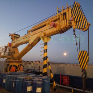 Ouco 4T30m lança telescópica Marine Grua com deck de sistema hidráulico