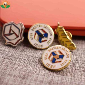 Perni duri del risvolto dell'emblema dello smalto di modo del metallo del distintivo dell'ago lungo militare su ordinazione della bandierina per i regali di promozione