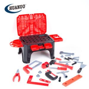 Caixa de seleção múltipla de plástico grosso presidir o conjunto de ferramentas de brinquedos para crianças