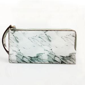 Modèle de marbre blanc long sac à main avec l'attache