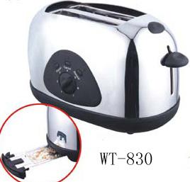 Tostador de pan 2 cortes con el logotipo de tueste fijo opcional (WT-830)