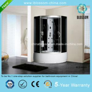 Sector del vidrio gris masaje completo cuarto de ducha de vapor (BLS-9849)
