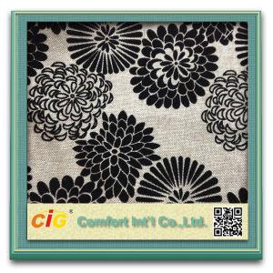 Mode Pattern flocage de collage en daim tissu chenille pour canapé sellerie coussin (CIGD1N013)