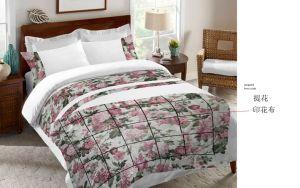 ドビープリント布のパッチワークのローズの花の寝具セット