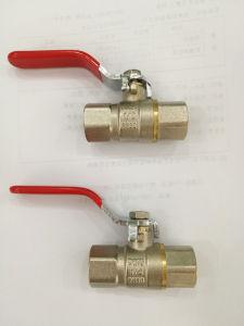 Control de agua de tuberías de latón de la válvula de bola con el precio de fábrica (YD-1021)
