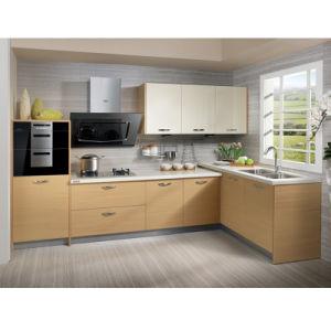 Pastoral Oppein L Shape cozinha de madeira de melamina Gabinetes (PO12-X167)