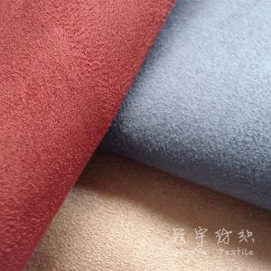 Fr Suede Fabric Fire-Retardant Cortina de tecido de poliéster