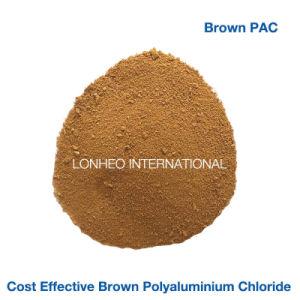 Het Polymeer van het Water van het Industrieafval, PAC Chemisch product, het Bruine Poeder van het Chloride PAC van het Poly-aluminium