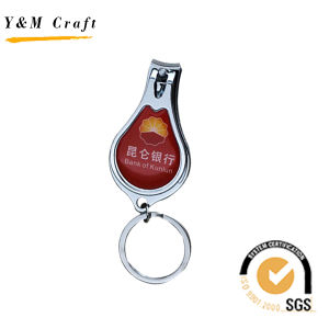 metal Craft Engraved Company 로고 손톱깎이 Keychain