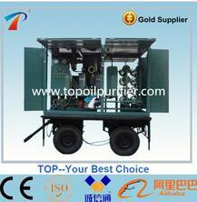 Mobile Trailer de aceite Filtros de aceite de transformador de la máquina (ZYM-150)