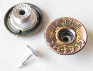 Jeans-knöpft Messingschaft-Legierungs-Metallzinke-Verschluss-Denim-Querstreifen Kleid-Zubehör (B279)