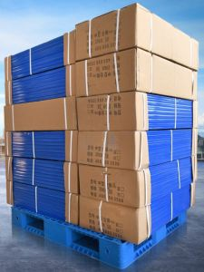Cassetto di plastica resistente dei lati del doppio di griglia del pallet 1200*1000*150mm dei prodotti del magazzino per racking della mensola 1.5t con 8 l'acciaio (acciai ZG-1210 8)