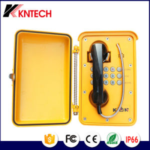 De noodsituatie maakt Openlucht Op zwaar werk berekende High-tech Weerbestendige Telefoon knsp-01 waterdicht
