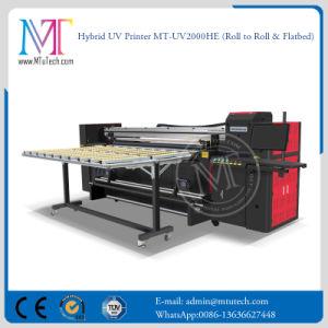 2 van de Digitale van het Grote Formaat van Inkjet meters Flatbed Machine van de Druk en Broodje om LEIDENE UVPrinter te rollen