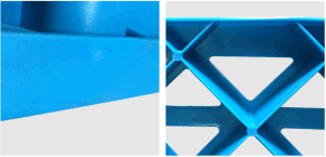 1200*800*140mm de HDPE lados único palete de plástico Nove pés palete para depósito