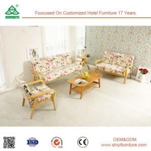 Fácil montaje lujoso sofá de tela lavables, conjuntos de sofá moderno, de madera maciza de diseño de sofá
