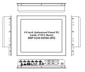 19  2와 더불어 산업 Touchscreen 위원회 PC, * PCI 팽창 슬롯, 원자 D2550 처리기, 2GB 렘, 32GB SSD, 2glan, 6*COM