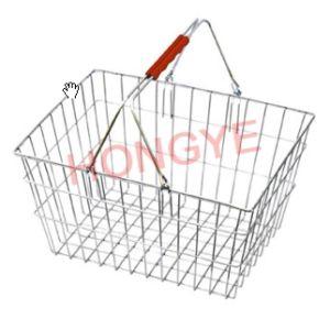 Cesta de compra do metal do fio do supermercado (OW-BW002)