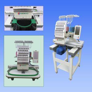 キャップ/衣服/ T-たわごとコンパクト刺繍用のタッチスクリーンを用いた高速コンピュータ化チューブラーワンヘッド刺繍機