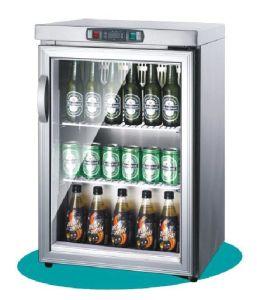 HandelsCounter-Top zwei Glas-Tür-Getränkebildschirmanzeige-Kühlvorrichtung/Kühlraum