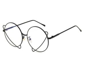De Overmaatse Ronde Optische Frames van het metaal in het Optische Frame van de Voorraad