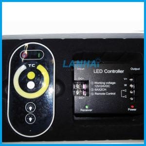 Un regolatore della luminosità a distanza dei 2 di Channles rf di tocco di colore di temperatura del regolatore LED indicatori luminosi di striscia