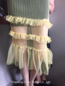 刺繍ファブリックに服を着せる新しい方法女性のスカート
