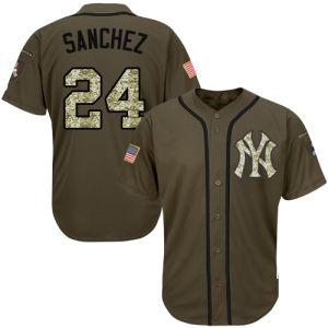 남자 여자 젊음 양키 Jerseys 24의 게리 Sanchez 야구 Jerseys