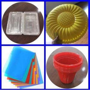 80-1000kg PET/PP/PS Lámina de plástico de la extrusora