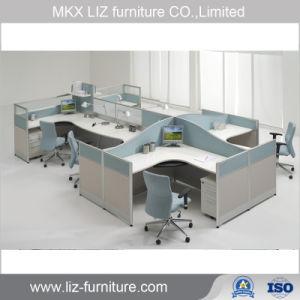 La moderna estación de trabajo de oficina lineal el Armario para 6 persona 2080