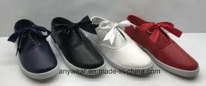 Inyección de poliuretano señoras la moda calzados zapatos Zapatillas casual de las mujeres (731)