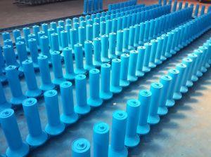 Transportador de correia de fricção de aço alinhando o rolete da engrenagem intermediária de manuseio de materiais a granel