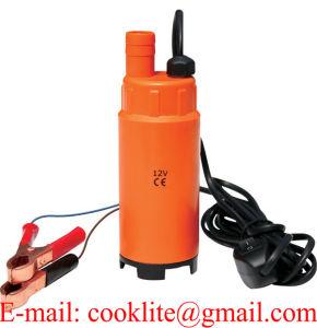 12V 24V DC Mini carburant Diesel d'huile d'eau submersibles de la pompe de tambour de transfert voiture camion de ravitaillement de Camping