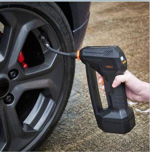Portable gonfiatore della gomma da 12 volt con il calibro e l'indicatore luminoso incorporati