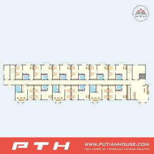 Estructura de acero prefabricados Multi-Stories Villa Edificio para Hotel de lujo