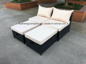 No hay barandilla sofá de la caña de tejido de Ocio