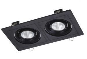 Luz de tecto LED em alumínio preto