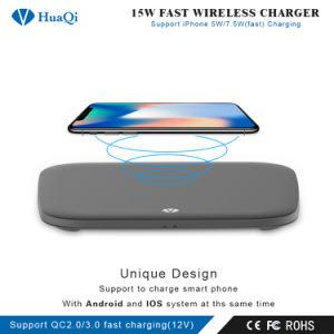iPhoneのための新しく熱い速の販売15Wの無線可動装置またはセルまたはスマートな電話充満パッドか端末または充電器かSamsungまたはNokiaまたはMotorolaまたはソニーまたはHuawei/Xiaomi