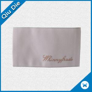Polonia Goose etiqueta tejida tejido suave de la marca para productos textiles
