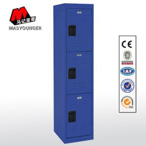 De blauwe Kast van de Rij van het Gebruik van de Gymnastiek van de Opslag van het Metaal van de Kleur Enige